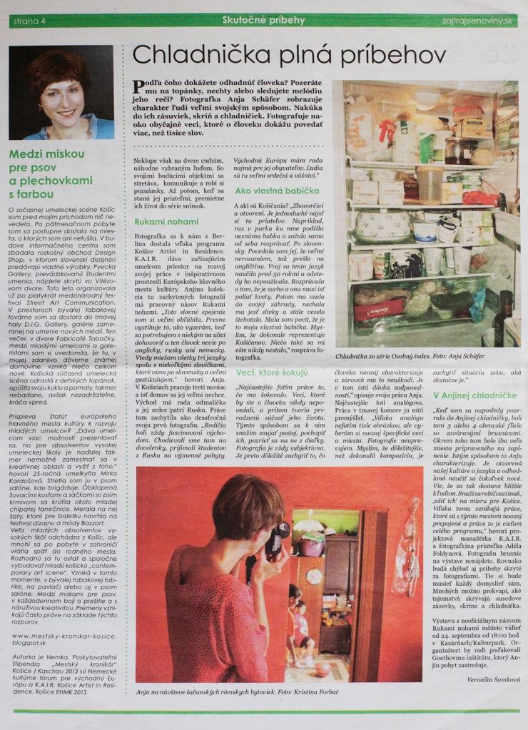 Zajtrajšie noviny Sep 2013