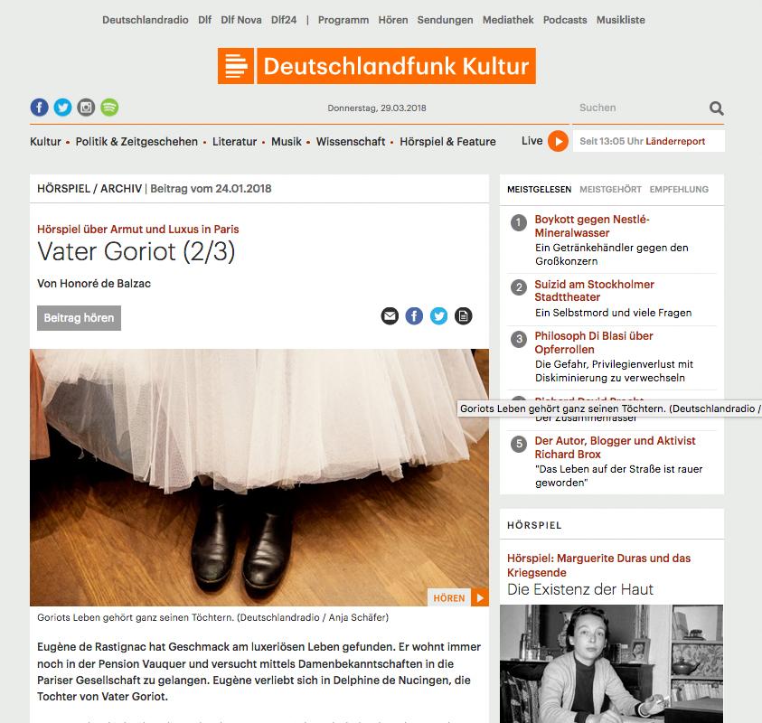 Deutschlandfunk Kultur_Vater Goriot
