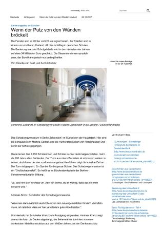 Sanierungsstau an Schulen - Wenn der Putz von den Wänden bröck